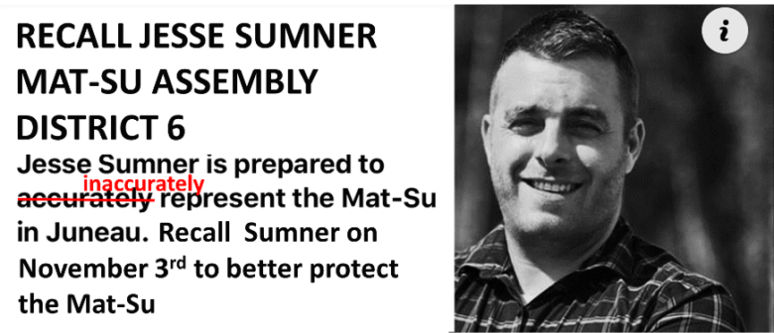 Recall Jesse Sumner Mat-Su Assembly District 6